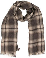Brunello Cucinelli Sheer Plaid Scarf w/ Tags