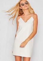 Missy Empire Kaira White Faux Leather Slip Dress