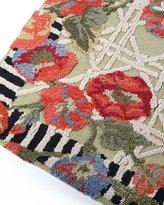 Mackenzie Childs MacKenzie-Childs Green Morning Glory Rug, 3' x 5'