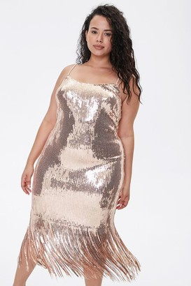 Forever 21 Plus Size Sequin Fringe Cami Dress