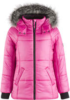 Calvin Klein Expedition Hooded Puffer Coat with Faux Fur Trim, Little Girls