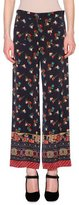Etro Floral Chinoiserie Cropped Pants, Black/Multi