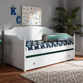 Breakwater Bay Kalel Wood Twin Daybed with Trundle Breakwater Bay Color: White