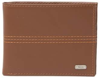 Tallia Bifold Leather Wallet with Center Stitches