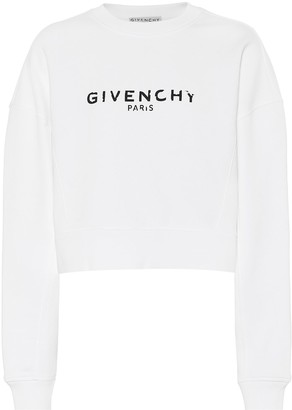 Givenchy Logo cropped cotton sweatshirt