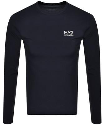 EA7 Emporio Armani Long Sleeved T Shirt Navy