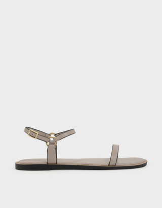 Charles & Keith Flat Ankle Strap Sandals