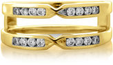 JCPenney MODERN BRIDE 1/4 CT. T.W. Diamond 14K Yellow Gold Pinched Ring Wrap