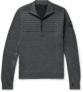 Canada Goose Clarke Merino Wool-Blend Half-Zip Sweater - Men - Gray