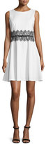 Erin Fetherston Sleeveless Lace-Waist Fit & Flare Dress