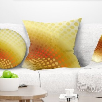 "East Urban Home Abstract Fractal Abstract Pattern Pillow Size: 16"" x 16"", Product Type: Throw Pillow"