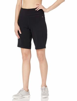 Danskin Women's Essential Wide Waistband Bermuda Short