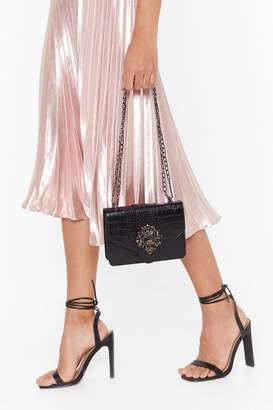 Nasty Gal Womens WANT We'd Be Lion Faux Leather Crossbody Bag - black - One Size