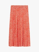 Oasis Animal Print Midi Skirt, Orange