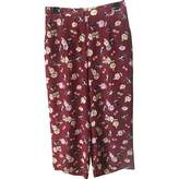Max Mara Weekend Burgundy Silk Trousers for Women