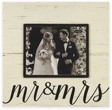 "Mud Pie Mr. & Mrs."" 8-inch x 10-inch Picture Frame"