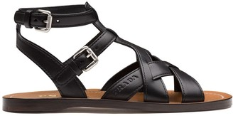 Prada Flat Leather Sandals