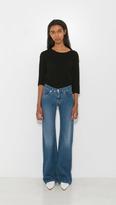 MM6 MAISON MARGIELA Stone Wash Flare Pocket Jeans