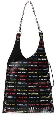 Sonia Rykiel Logo Printed Slashed Tote Bag
