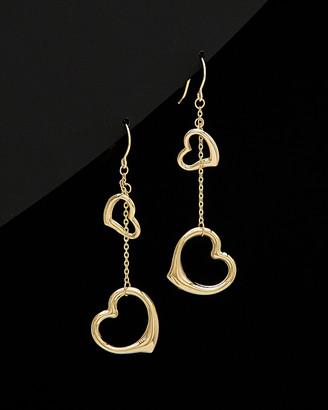 Italian Gold 14K Hanging Heart Earrings