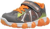 Stride Rite Leepz Sneaker, Grey/Orange, Toddler