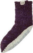 Elle Popcorn sparkle slipper socks