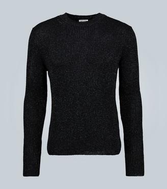 Saint Laurent Round-neck metallic sweater