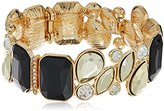 GUESS Multi Stone Jet/Gold Stretch Bracelet