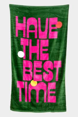 ban.do Have The Best Time Giant Towel - Green