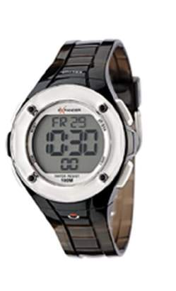 Sector Expander Women's Watch Digital Quartz with Silver Dial and Black Resin Strap - R3251272515