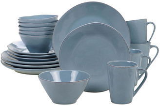 One Kings Lane Asst. of 16 Salerno Place Setting - Teal