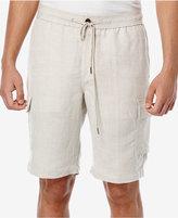 Cubavera Men's Linen Drawstring Full Elastic Cargo Shorts