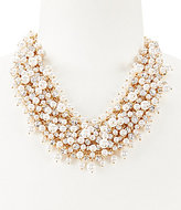 Anna & Ava Faux-Pearl & Crystal Multistrand Statement Necklace