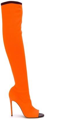 Victoria Beckham Jasmin 115mm knitted open toe boots