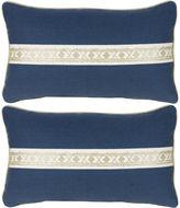 Miles Talbott Collection S/2 Glynn 12x20 Pillows, Indigo