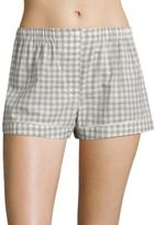 Araks Tia Gingham Silk Boxer Shorts