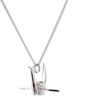 Origami Jewellery Mini Crane Necklace Sterling Silver
