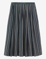 Toast Indigo Stripe Linen Skirt