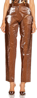 Y/Project Cut Out Trousers in Tobacco | FWRD
