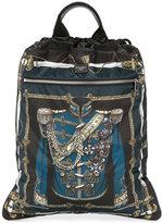 Dolce & Gabbana Royal print drawstring tote bag