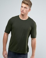 Sisley Crew Neck T-Shirt With Back Raglan Detail