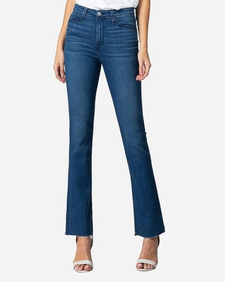 Express Flying Monkey High Waisted Raw Hem Bootcut Jeans