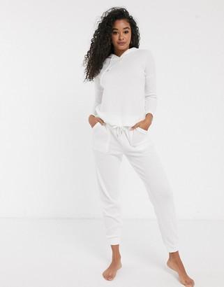 Women'secret waffle loungewear joggers in winter white