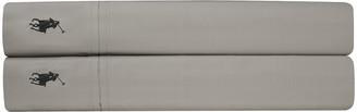 Ralph Lauren Home Player Flat Sheet - Pebble - Double