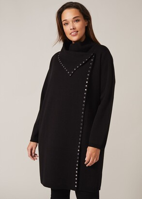Phase Eight Paloma Stud Knit Coatigan