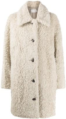 Low Classic Faux Shearling Coat