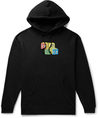 Iggy Building Blocks Printed Fleece-Back Cotton-Blend Jersey Hoodie