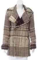Chanel Wool-Blend Plaid Coat