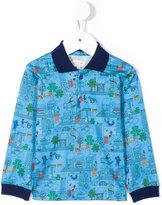 Paul Smith city and animal print polo shirt