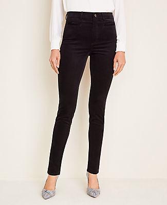 Ann Taylor Petite Corduroy Welt Pocket Skinny Pants - Curvy Fit